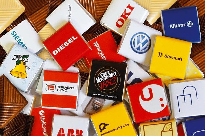 novinky 2016 reklamná čokoláda s potlačou loga