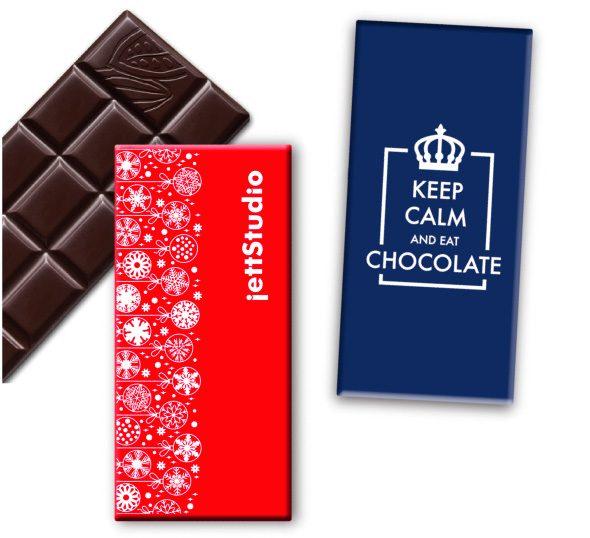 Čokoláda tabuľka obdĺžnik s logom
