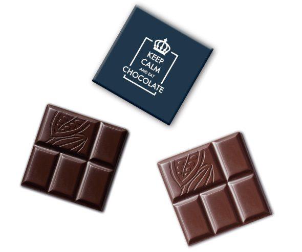 Čokoláda tabuľka štvorec s logom
