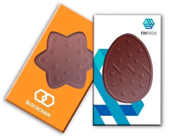 Čokoládové tvary s logom