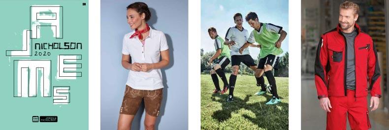 James and Nicholson 2020 – katalóg reklamné predmety textil