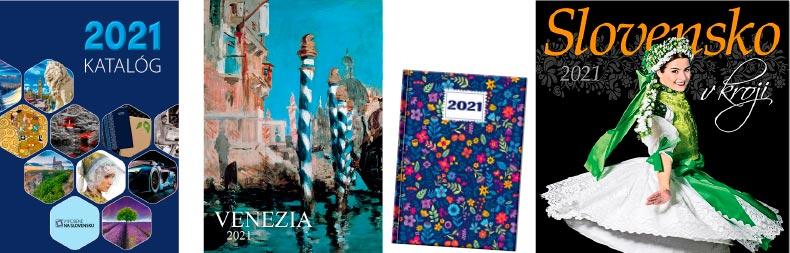 Katalóg kalendáre, diáre a novoročné pozdravy 2021