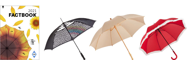 Fare FactBook 2021 – katalóg reklamné predmety dáždniky a slnečníky